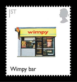 British design stamps alternative: Wimpy Bar