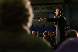 Obama at a rally