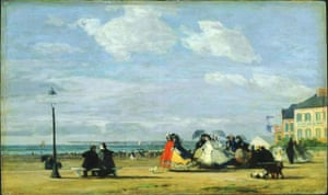 The Beach at Trouville - The Empress Eugenie