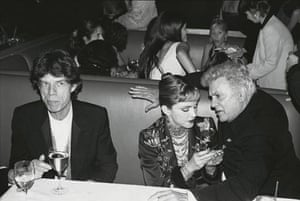 Mick Jagger, Madonna and Tony Curtis by Dafydd Jones, 1997