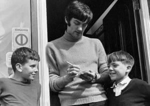George Best Signing Autographs