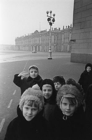 In front of the Hermitage, Leningrad 1964
