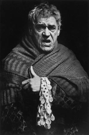Paul Scofield as Salieri in 'Amadeus' at the National Theatre