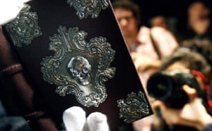 Photographers at Sotheby's at the press view of The Tale of Beedle the Bard