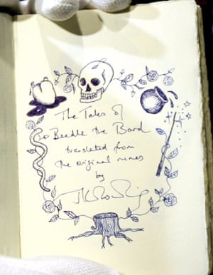 The title page of The Tale of Beedle the Bard