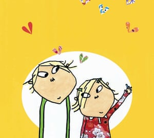 Lauren Child illustration of Charlie and Lola from I Am Too Absolutely Small for School