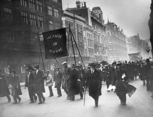 Great Depression anti poverty marchers in England