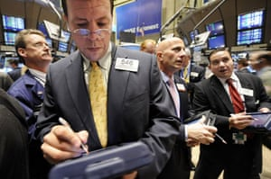 September 30 2008: Traders work on the New York Stock Exchange floor