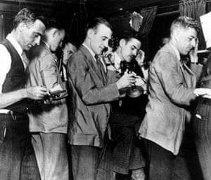 October 25 1929: Stock brokers at the New York Stock Exchange as panic seeking continues from the previous day