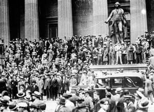 Crowds during the Wall Street Crash