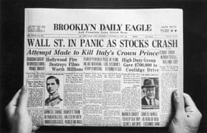Wall Street crash newspaper