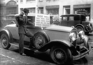 Car sale after the Wall Street crash