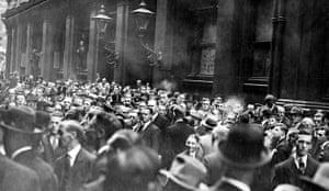 New York Stock Exchange crowds