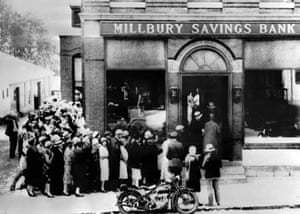 Bank rush in 1929