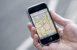 Google maps on an Apple iPhone