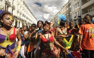 Performers at the Notting Hill Carnival