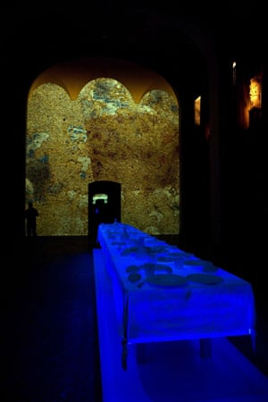 Peter Greenaway's Last Supper projection