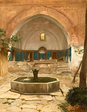 Courtyard of a Mosque at Bursa