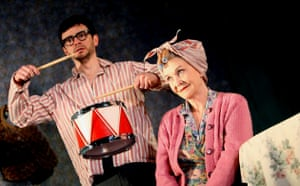 Justin Salinger (Stan) and Sheila Hancock (Meg) in The Birthday Party, Lyric Theatre, Hammersmith