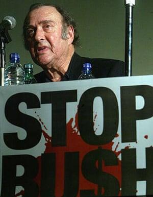 Pinter at a Stop the War rally