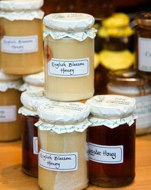 Jars of English honey