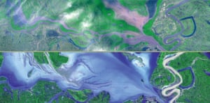 March 19 2002 and September 2 2002, Dongting Hu, Yangtze river, China