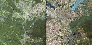 February 1973, Iguaçu Falls, Argentina, Brazil and Paraguay and May 2003, thirty years later