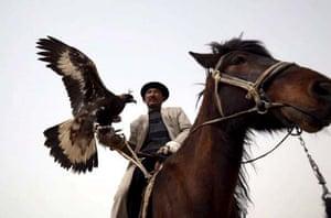 Kirgis man on horse