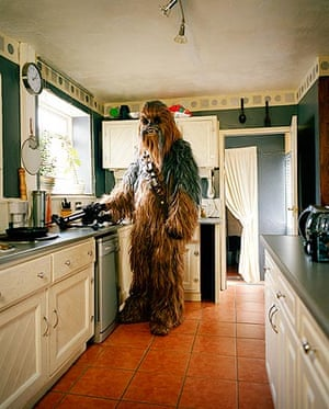 Steven Burns of Rhyl, as Chewbacca