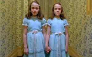Lisa and Louise Burns as the Grady twins in The Shining