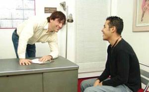 Two men in an office