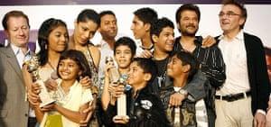 Cast and crew of Slumdog Millionaire in Mumbai