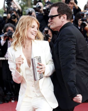 Quentin Tarantino and Melanie Laurent