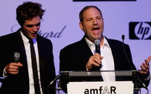 Robert Pattinson and Harvey Weinstein