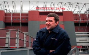 Gary Pallister outside Old Trafford