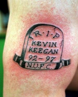 An 'RIP Kevin Keegan' tattoo