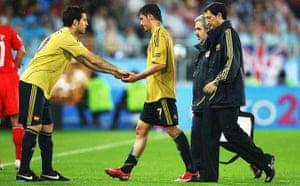 Cesc Fabregas replaces David Villa