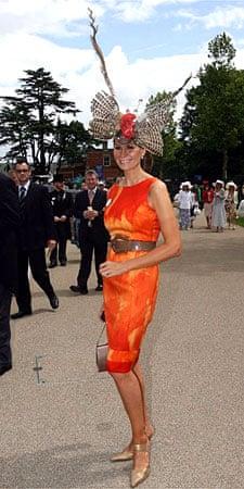 Danish designer Isabella Kristensen in orange and butterfly