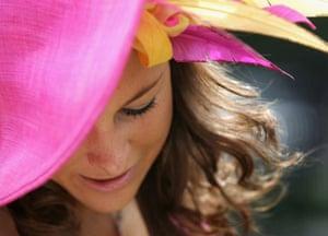 Suzanne Murphy arrives in an Edwina Ibotson hat