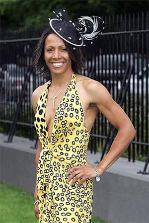 Dame Kelly Holmes is spotted at Ladies' Day