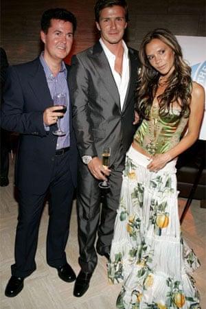 The Beckhams with Simon Fuller