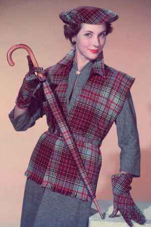 1950s woman in tartan