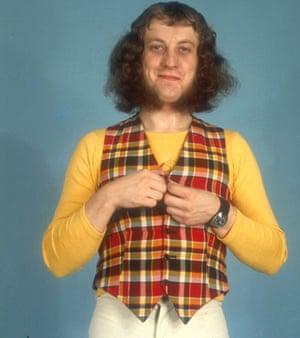 Noddy Holder wearing tartan
