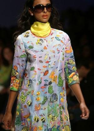 Gayatri at Indian fashion week