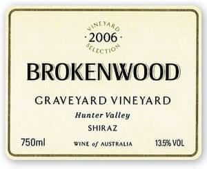 Brokenwood Graveyard Vineyard Shiraz