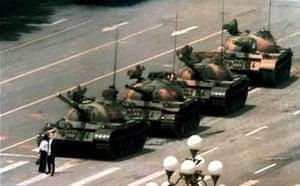 Purnell in Tiananmen Square