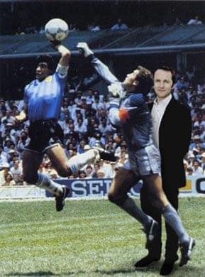 Purnell with Maradona