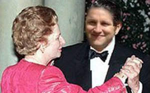 Purnell with Margaret Thatcher