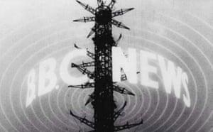 BBC news logo in 1954