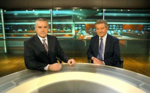 Huw Edwards and Richard Baker in 2004